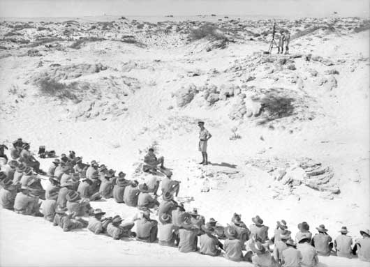 A group of soldiers in the Western Desert, shortly after the great Battle of El Alamein (AWM 013352).