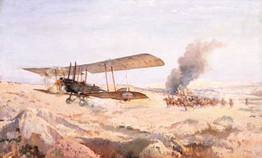 "H. Septimus Power, ""The incident for which Lieutenant F.H. McNamara was awarded the VC"" (AWM ART08007)."