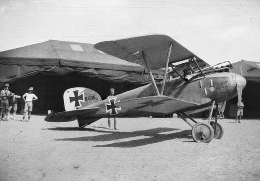 A German Air Force DIII Albatros Scout aircraft, shot down into AIF Light Horse lines near Beersheba (J02258).