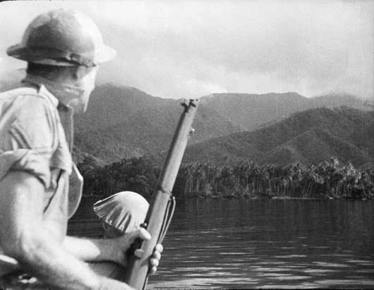An image that is typical of the country around which Australian militia forces repulsed Japanese attempts to land (AWM 013315).