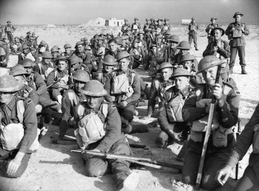 Men of the 1st Anti Tank Company in Tobruk (AWM 005858).