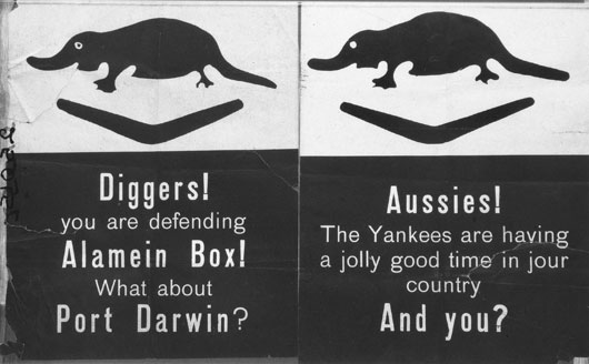 German propaganda leaflets designed especially for Australians serving in the Alamein sector (AWM 025015).