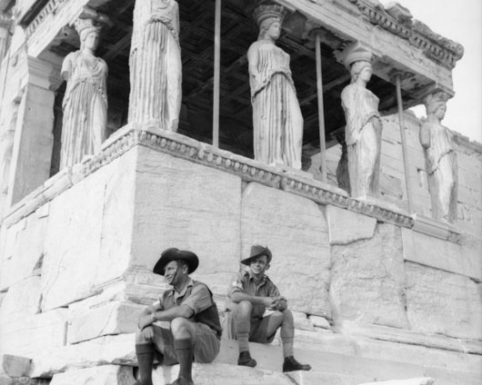 The Maidens and the Aussies in Athens (AWM 006785).