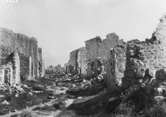 The ruins of the main street in Krithia, Cape Helles (AWM G02057).